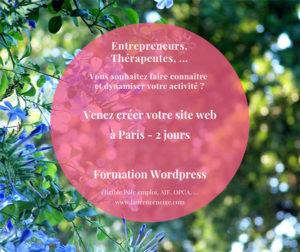 Formations WordPress éligible Pôle Emploi AIF OPCA à Paris