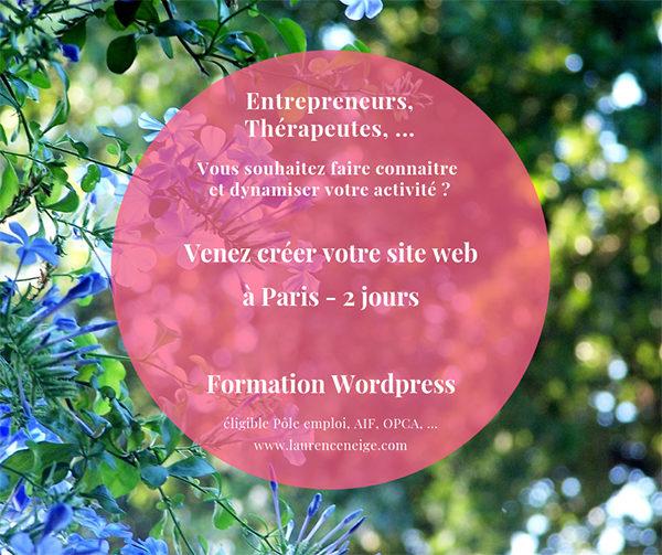 Formation WordPress éligible Pôle Emploi, AIF, OPCA, à Paris (75)