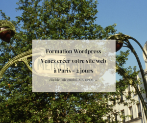 Formations WordPress éligible Pôle Emploi AIF OPCA OPCO à Paris 75