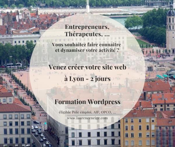 Formation WordPress site web éligible Pôle Emploi, AIF, OPCO, à Lyon (69)