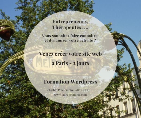 Formation WordPress site web éligible Pôle Emploi, AIF, OPCO, à Paris (75)