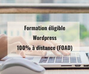 Formations WordPress à distance FOAD en ligne éligible Pôle Emploi AIF OPCO