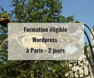 Formations WordPress éligible Pôle Emploi AIF OPCO à Paris 75