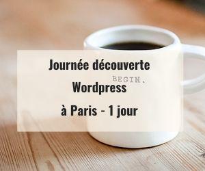 Journée découverte WordPress 1 jour Paris 75